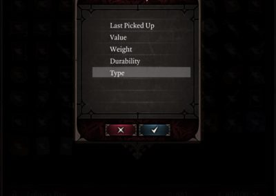 Inventory Sorting Improvements