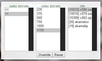 videobitrate